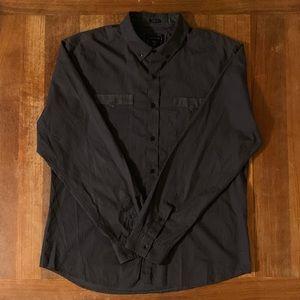 Guess Dark Gray L/S Shirt Large